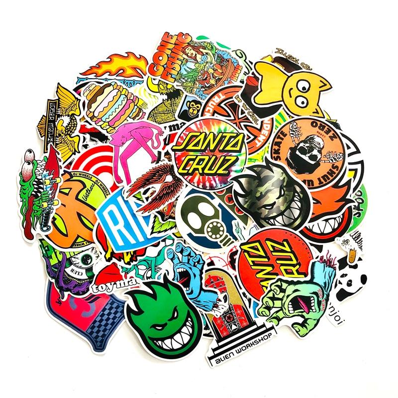 100 Uds Cool Horror skull impermeable divertido scrapbooking Sticker laptop nevera maleta pared coche skateboard Paquete de pegatinas
