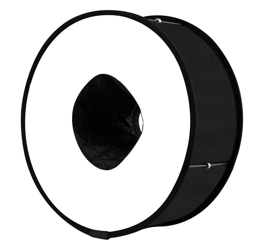 Profesional plegable Annular Universal accesorios fotografía Flash luz difusor Speedlight Softbox 45CM