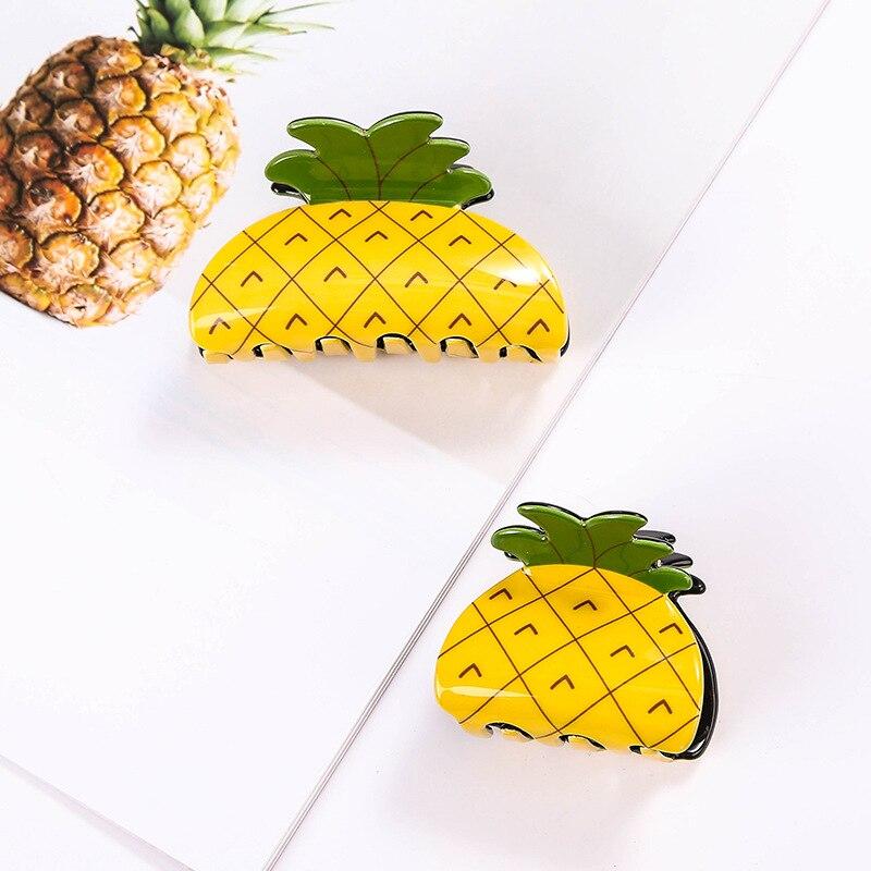 aliexpress.com - Korean Fashion Cute Pineapple Mini Hair Claw Women Solid Hair Crab Clips Ponytail Hold Girl Washing Hair Tool Hair Accessories