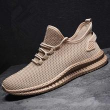 Men Shoes Sneakers Breathable Men Casual Shoes No-slip 2020 Male Air Mesh Lace Up Men Shoes Tenis Masculino size 39-44