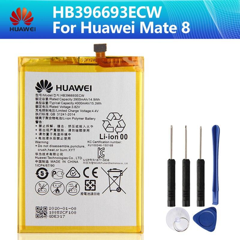 Huawei HB396693ECW Phone Battery For Huawei Mate 8 Mate8 NXT-AL10 NXT-TL00 NXT-CL00 NXT-DL00 NXT-L09 4000mAh Original + Tool