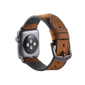 Handmade Vintage Leather Watchband for iWatch Apple Watch 38mm 40mm 42mm 44mm Series 5 4 3 2 1 Watch Band Strap Bracelet retro