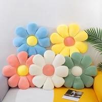 antistress flower pillow plush toys baby bedroom decoration sofa chair cushion cute soft fluffy pillows floor cushion home decor