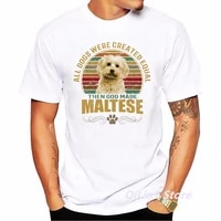 summer 2021 vintage mens tshirt maltese dog print graphic t shirts male white short sleeve casual t shirt homme top tee camisas