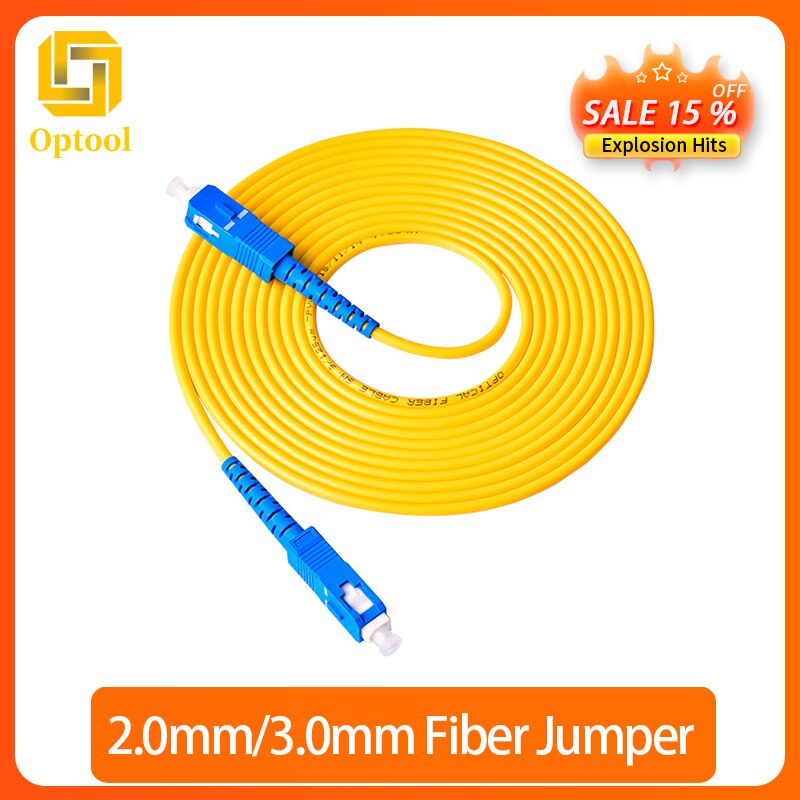 Free shipping 30 Meters SC-SC SM SX30M 9/125um SC/UPC Fiber Optic Patch Cord Optical Fiber Jumper Cable