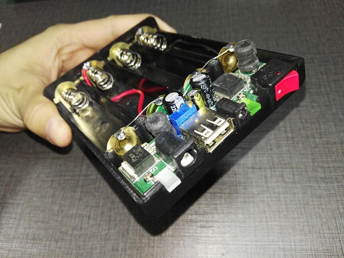 5V/12V/8-24V salida ajustable cargador tipo batería externa 18650 DIY caso de arranque del coche salida DC personalizar caso de banco de potencia