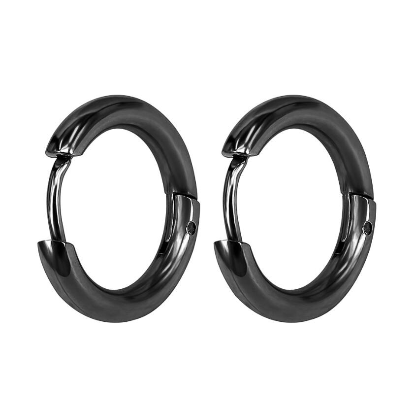 Stainless Steel Small Hoop Earrings for Women Men Gold Black Circle Ear Ring Earrings Helix Hoop Piercing jewelry Accessories  - buy with discount