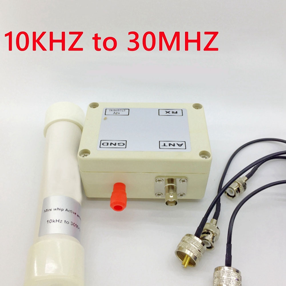 Active Antenna Mini Whip Antenna VLF LF HF VHF 10 kHz-30 MHz with Portable Cable for Radio Communication Tool accessory enlarge