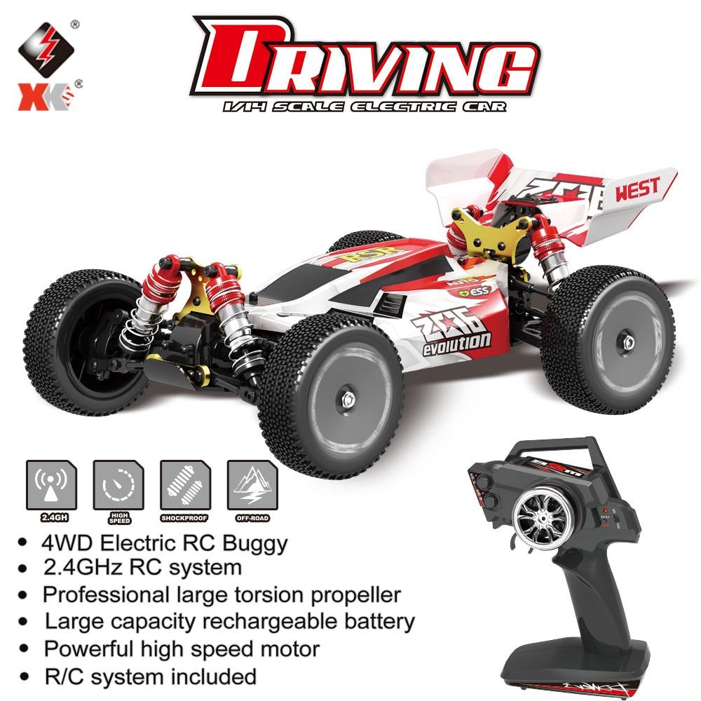 WL juguetes XKS 144001 1/14 RC coche de carreras de 60 Km/h de alta velocidad 2,4 GHz RC Buggy 4WD 550 Motor RC Off-Road escala deriva RTR Juguetes