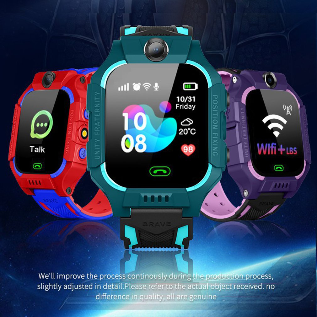Q19 Kids Smart Watch Phone For Girls Boys With Gps Locator Pedometer Fitness Tracker Touch Camera Anti Lost Alarm Clock