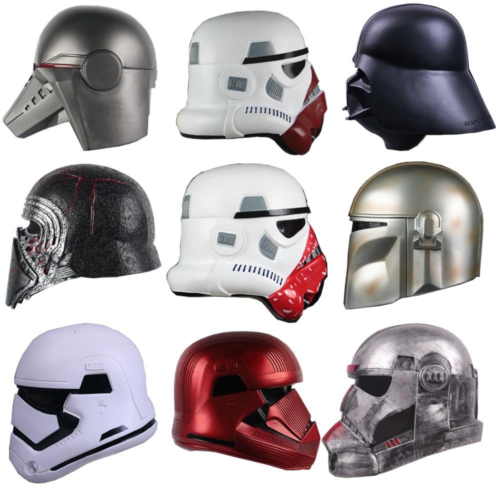 Шлемы для косплея Star из ПВХ, твердая война, полноголовая маска SW, солдат, воин, аксессуары для взрослых