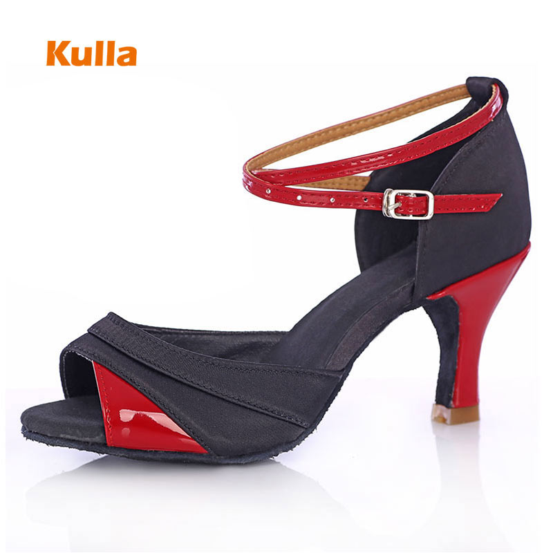 Smart latin dance shoes for women with straps satin nude strappy sandal style dance shoes