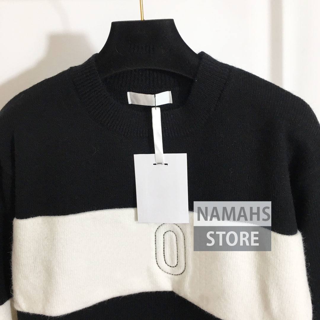 fashion high end wool sweater women long sleeve branded letter logoed designer jumpers woman classic sweaters clothes pullover enlarge
