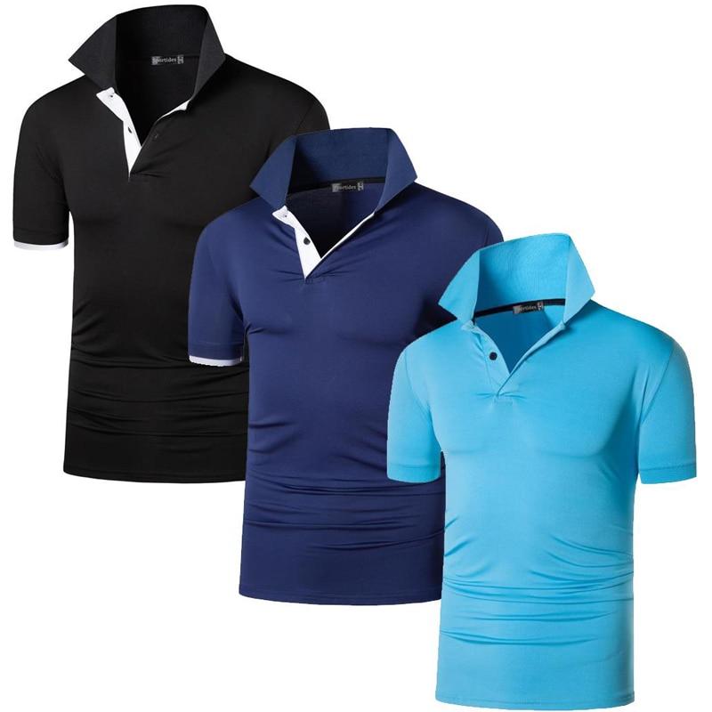 جيسيان 3 حزمة الرجال الرياضة تي شيرت قمصان بولو poloshirt جولف تنس الريشة الجافة تناسب قصيرة الأكمام LSL322B_322N_323LB M-XXL