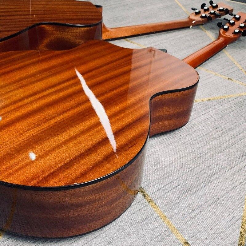 Professional Pickup Guitar Travel Spruce Mahogany Acoustic Guitar Professional Guitar High Quality Guitarra Instrument DE50JT enlarge
