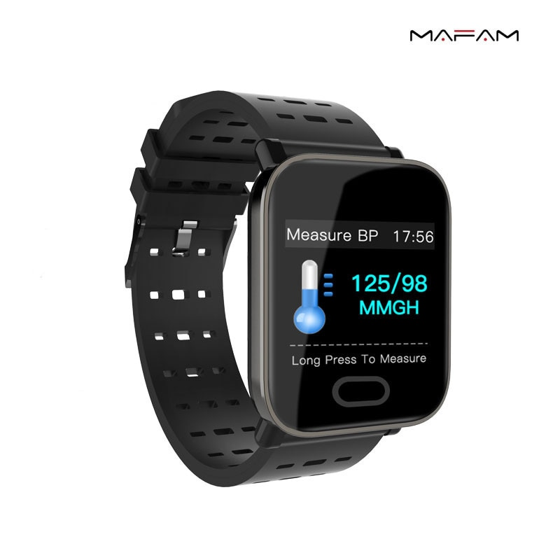 New Ft10 Square 1.3-inch Touch Screen Custom Dial Heart Rate Blood Pressure Blood Oxygen Sleep Monitoring Smart Watch enlarge