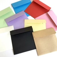 20pcs mini envelope square candy color letter paper kraft paper card stationery blank student office supplies birthday 10x10cm
