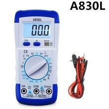 Urijk A830L ЖК-цифровой мультиметр портативный переменный ток напряжение диод Freguency мультитестер ручной тестер напряжения тестер тока Омметр