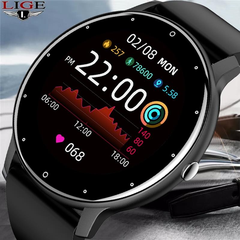 En este momento-reloj inteligente para hombre... accesorio de pulsera resistente al agua...