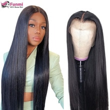 250 Density Lace Wig Bone Straight Lace Front Human Hair Wigs 4X4 Closure Wig Brazilian 13X4 Straigh