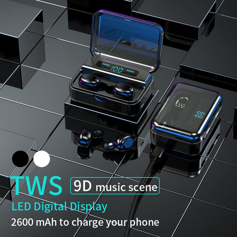 S590 9D verdadero estéreo Bluetooth inalámbrico 5,0 auricular táctil en el oído automático TWS auriculares 2200mAh IP67 deportes Bluetooth auriculares