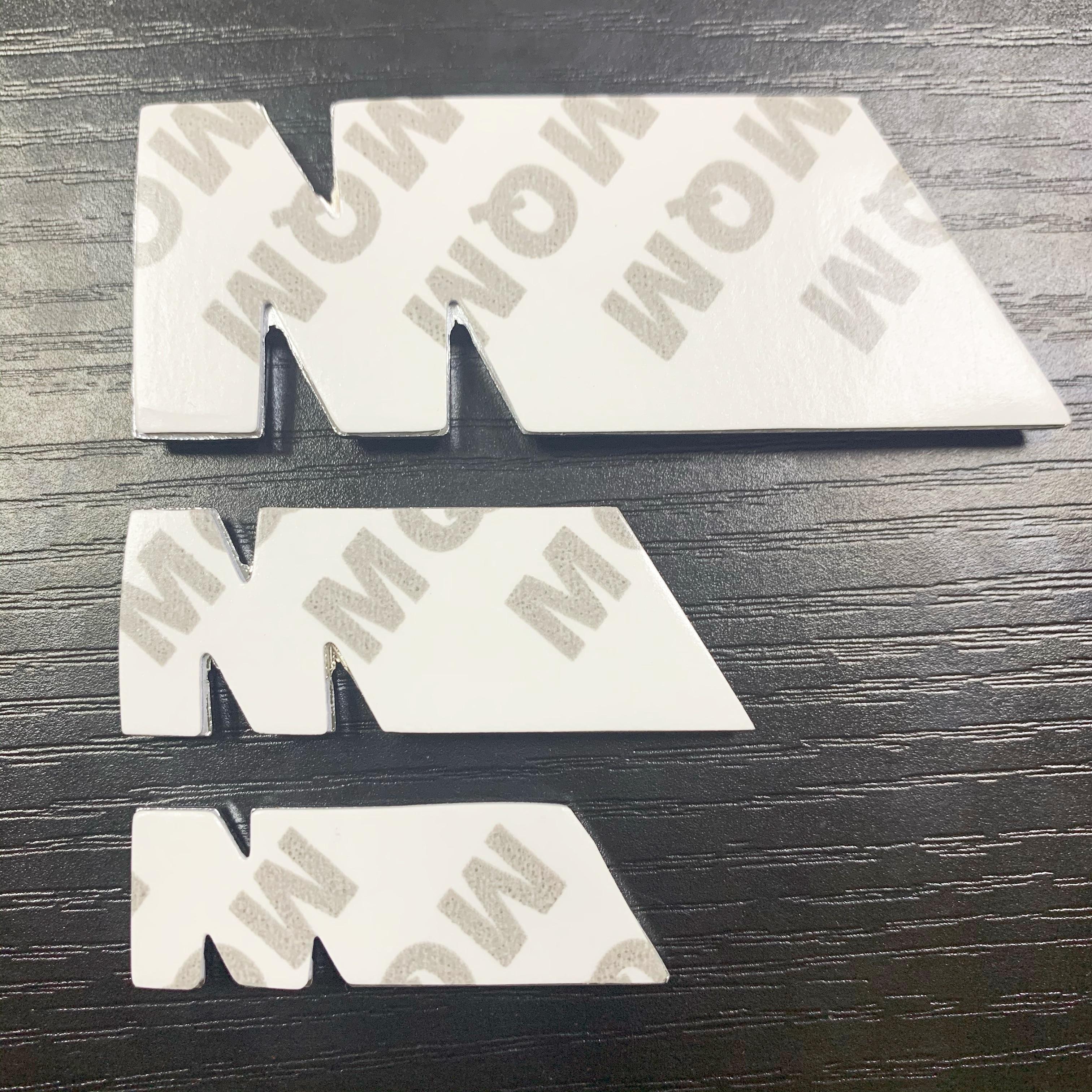 3 tamaños cromado negro plateado Metal M potencia emblema de placa de coche 3D Metal M Logo pegatinas parrilla para BMW CAR Styling dropshipping