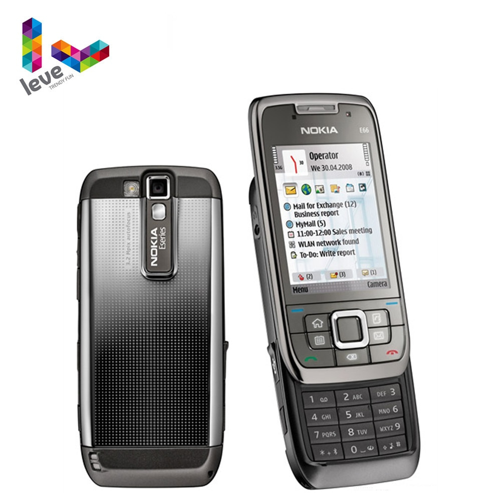 Nokia E66 Slider Phone Original Used E66 GSM WIFI Bluetooth 3.15MP Camera 2G 3G Unlocked Cell Phones