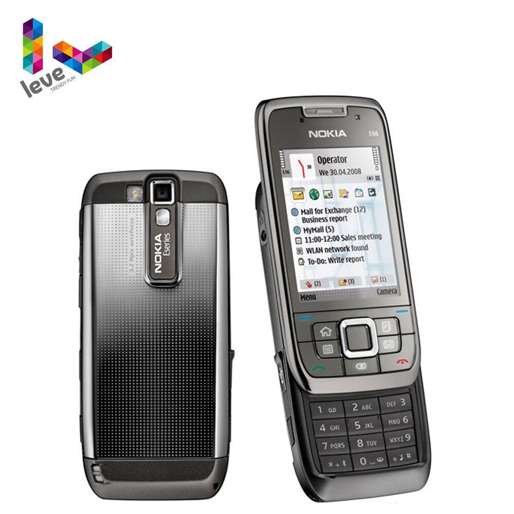 Nokia E66 Slider Phone Original usado E66 GSM WIFI Bluetooth 3.15MP Cámara 2G 3G teléfonos móviles desbloqueados envío gratis
