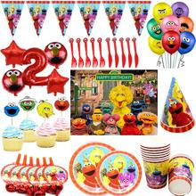 10pcs Sesame Street Party Birthday Disposable Party Tableware for Birthday Decoration Cartoon Elmo P