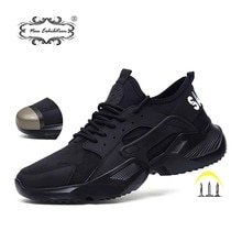 New Exhibition Mesh Steel Toe Work Shoes Breathable Working Shoe Man Safety Lightweight Puncture-Pro