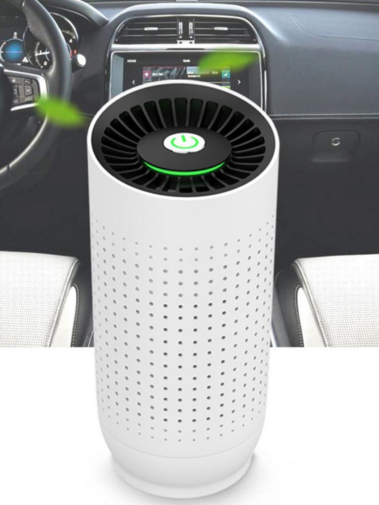 Purificador de aire portátil para coche, Sensor inteligente de calidad, barra de oxígeno, purificador de aire para coche, 3 filtros compuestos para uso interior y exterior