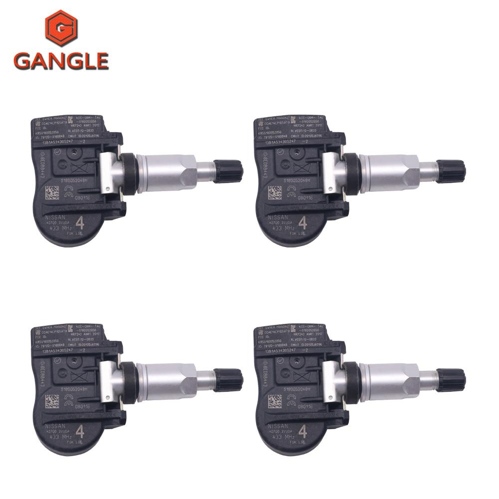 4 unids/lote SENSOR de presión de neumáticos TPMS 407003VU0A 40700-3VU0A VAUXHALL para OPEL MOVANO COMBI RENAULT talismán de presión de aire