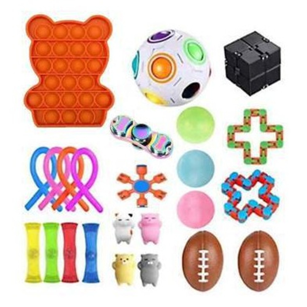 NEW  Fidget Toys 20/24/25PCS Pack Sensory Toy Set Antistress Relief Autism Anxiety Anti Stress Bubble for Kids Adults enlarge