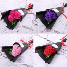 3pcs Soap Flowers Rose Carnation Bouquet Mother's Day Gifts Valentine's Day Gift For Girlfriend artificial flowers Small Gifts