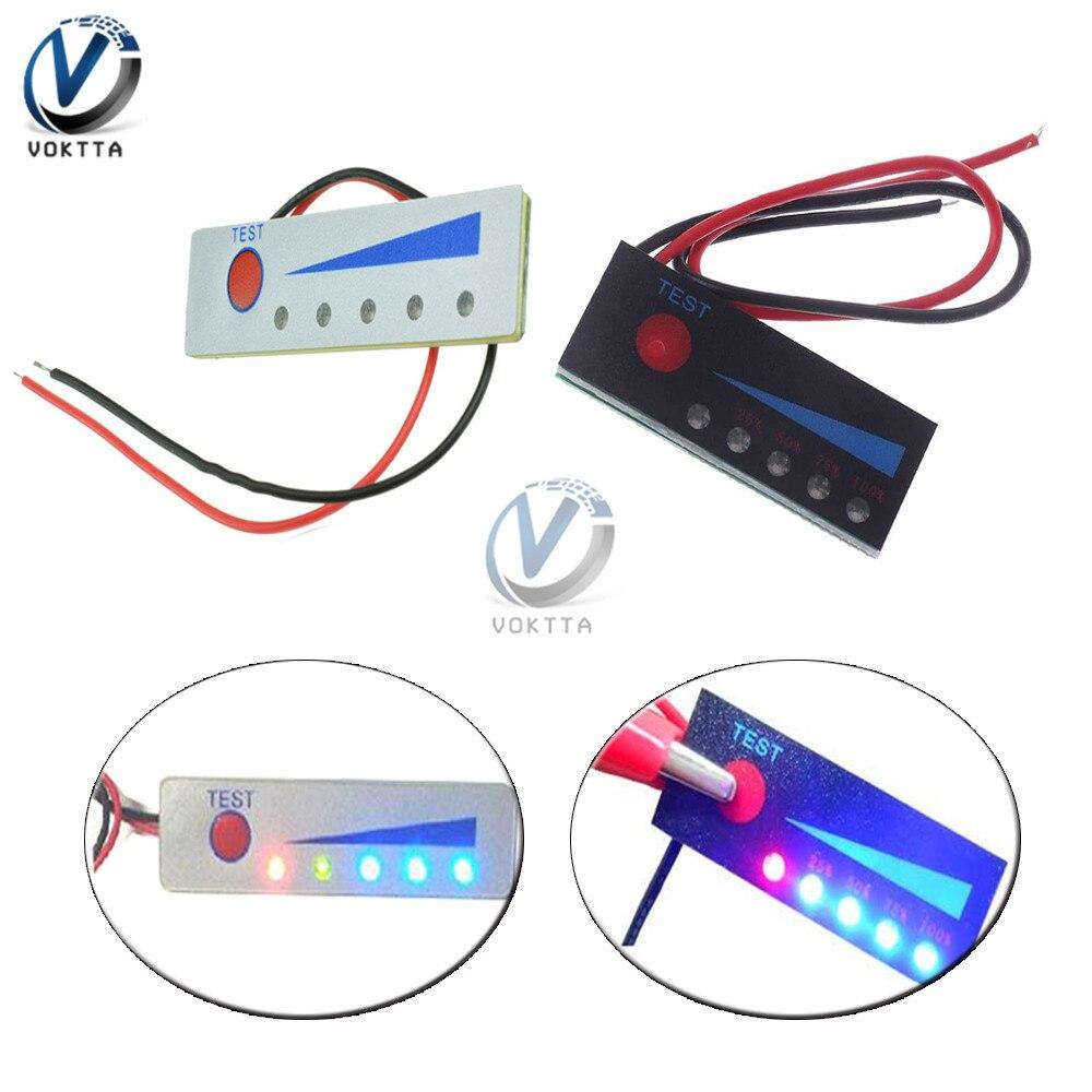 12 v indicador de nível de bateria acidificada ao chumbo display lcd testador 1 s 2 s 3 s 4S 5S 6 s 7 s 18650 indicador de capacidade da bateria de lítio li-ion