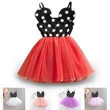 Mysz z kreskówki Michey Minnie sukienka dziewczyny urodziny Dot ubrania dzieci księżniczka strój dzieci słodkie sukienki Tutu 5 kolorów