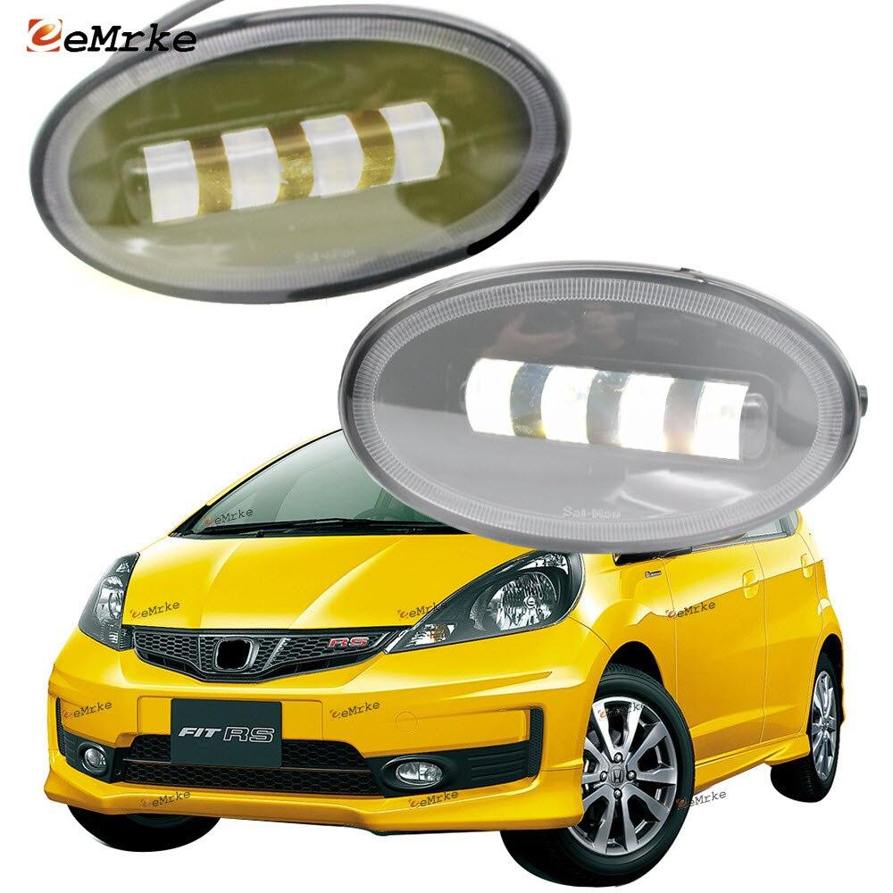 2x قطع خط عدسة الجبهة كامل LED أضواء الضباب أبيض/أصفر اللون فوجلامب لهوندا صالح RS (GE) /جاز سبورت 2011 2012 2013 2014
