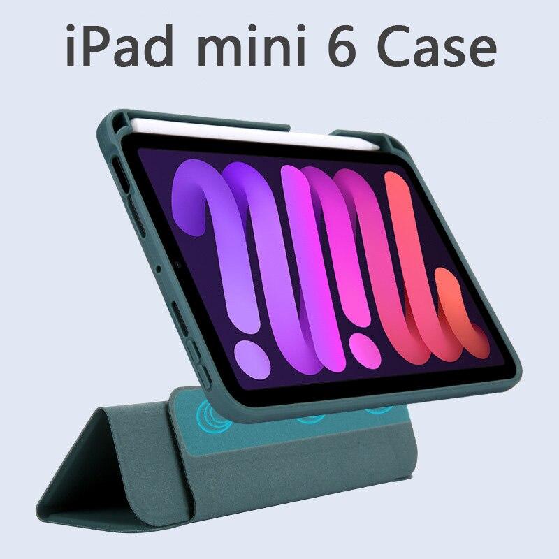 Чехол для iPad Mini 6, съемный магнитный чехол, новинка 2021, умный чехол «Пробуждение» с держателем для карандашей, противоударный чехол «сделай с... чехол