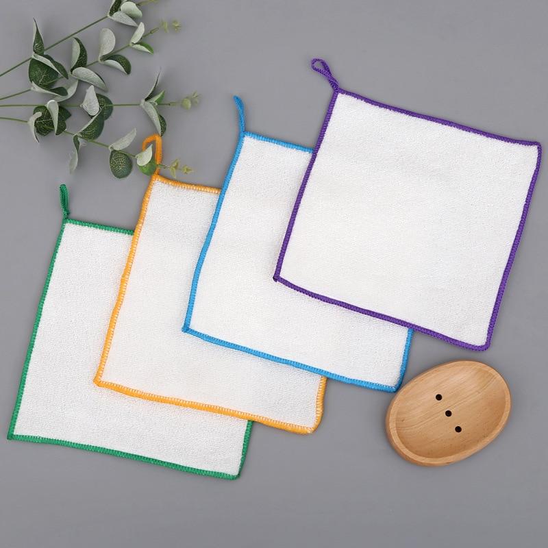 Bambus Stoff Geschirrtuch Gericht Handtuch Öl-freie Reinigung tuch Haushalt Reinigung Tuch Reinigung tuch [] 【]