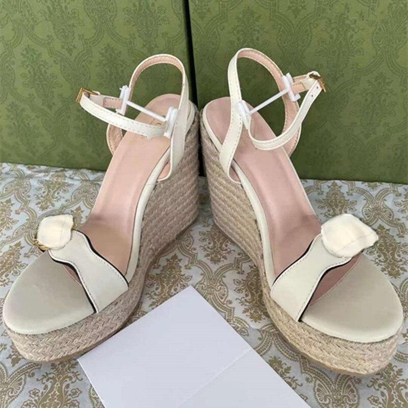 sandal The latest fashion goddess slope heel sandals high quality comfortable feet beautiful elegant temperament you are worth enlarge