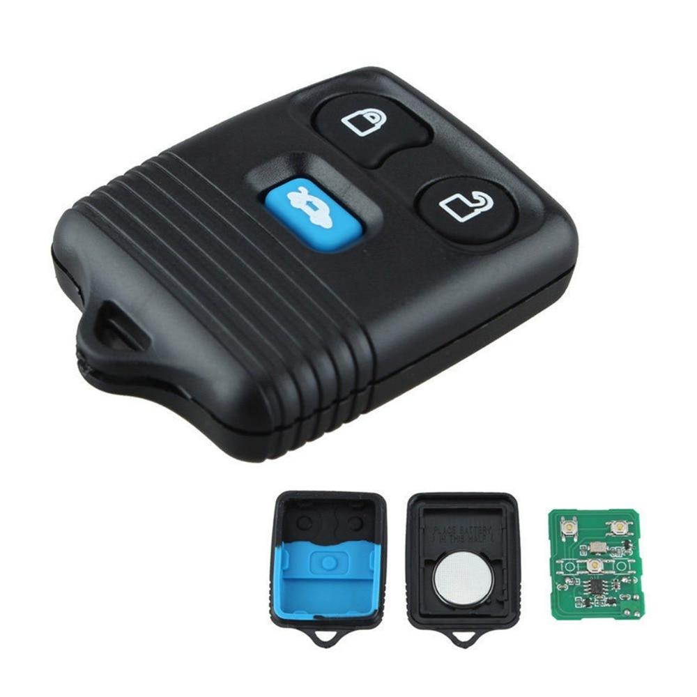 3 botão remoto chave fob com placa de circuito de programação remoto chave fob apto para ford transit mk6 2000-2006 chave de ignição acessório