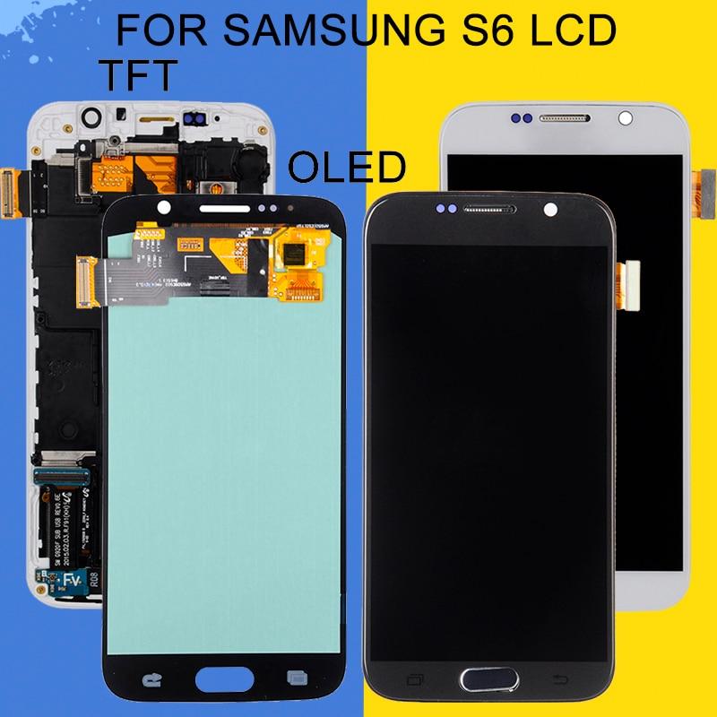 شاشة Catteny Amoled Lcd تعمل باللمس ، لهاتف Samsung Galaxy S6 G920F G920V G920A G920 ، شحن مجاني