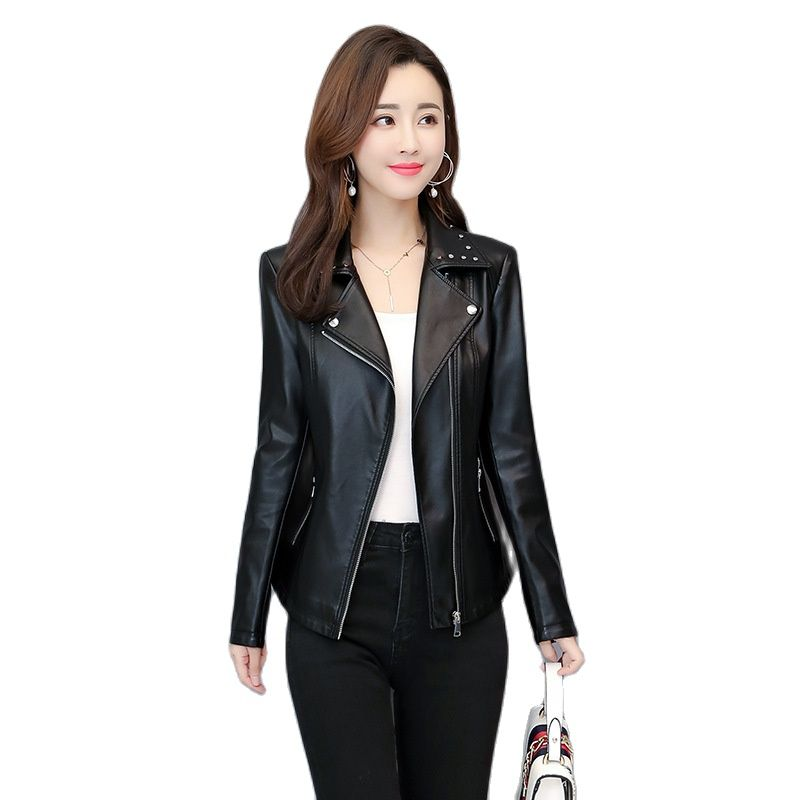 2020 new pu faux leather jacket women oversized leather jacket plus size clothing for women 3xl 4xl 5xl 6xl learher coats biker