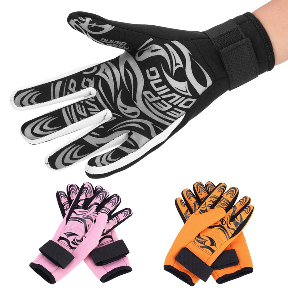 2MM neoprene scuba diving gloves non-slip and stab-resistant warm diving suit gloves boating surfing fishing snorkeling gloves 3mm neoprene swimming diving scuba snorkeling surfing spear fishing water sports gloves non slip winter swimming warm gloves