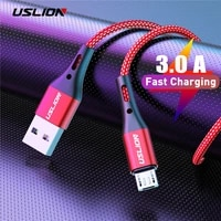 uslion 3a fast charging micro usb cable for xiaomi redmi note 5 pro android phone change for samsung s7 micro charger data cable