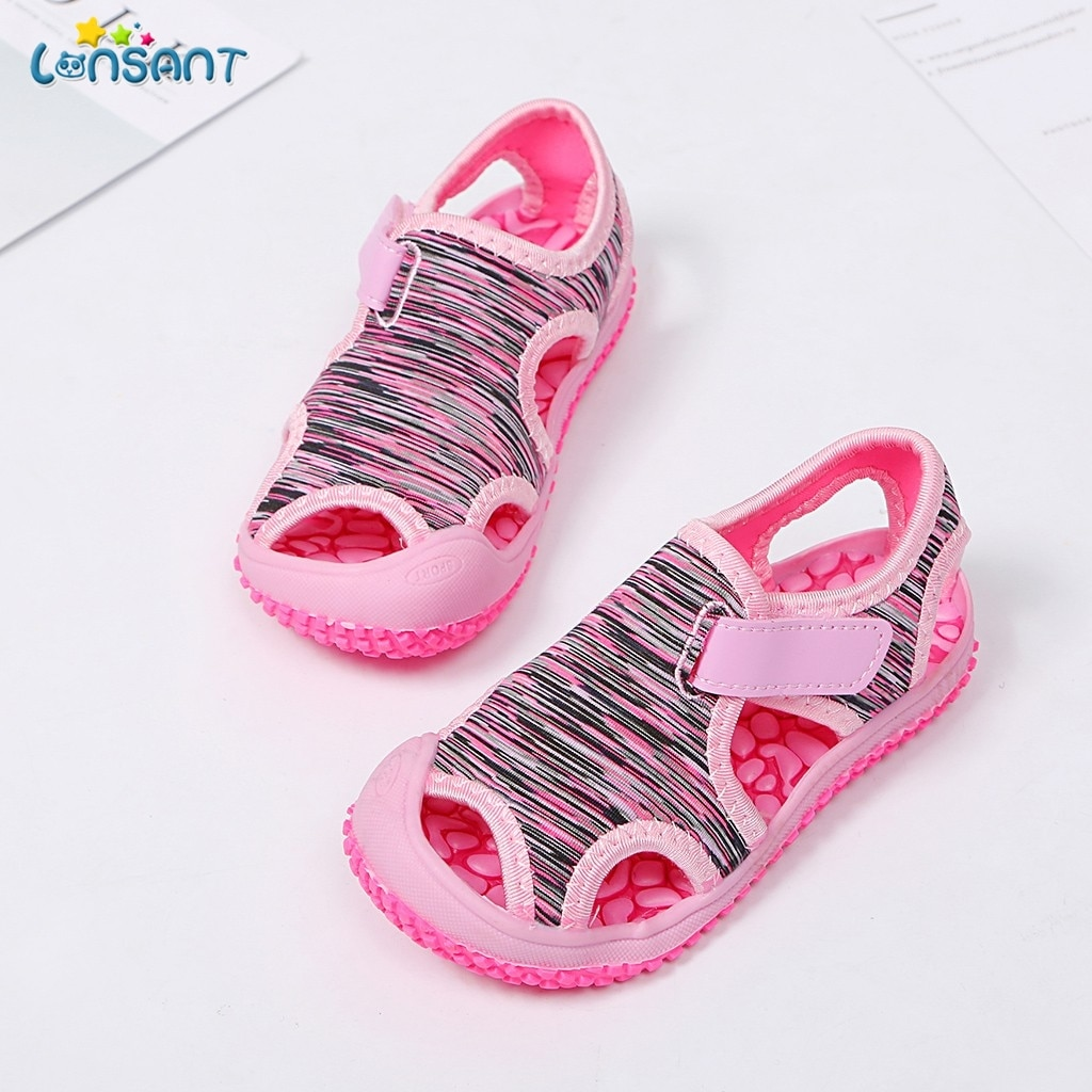 LONSANT Summer Baby Girls Boys Sandals Children Beach Sandals Soft Bottom Infant Shoes Kids Outdoor