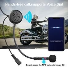 Fodsports F1 casco de moto rcycle, auriculares estéreo inalámbricos bluetooth BT 5,0 con FM, auriculares estéreo, música, altavoz A2DP
