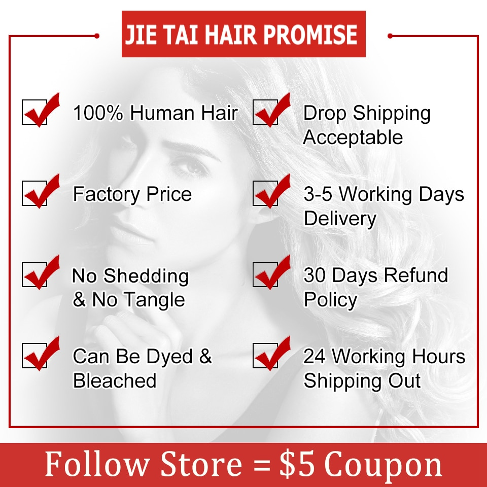 JIE TAI Remy13x4 Lace Front Human Hair Wigs Brazilian Straight Human Hair Wigs Lace Frontal Wig Pre Plucked Lace Closure Wigs