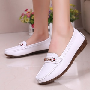 Genuine leather Women Flats Ballet Shoes Cut Out Leather Breathable Moccasins Women Boat Shoes Ballerina Ladies Casual Shoes