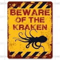 metal sign wall sign wall decorative plaque art collection beware of the kraken funny vintage metal garden warning